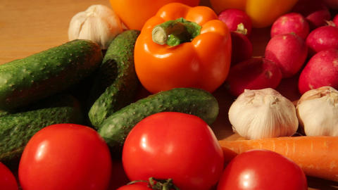 Vegetables Assortment Close-up stock footage