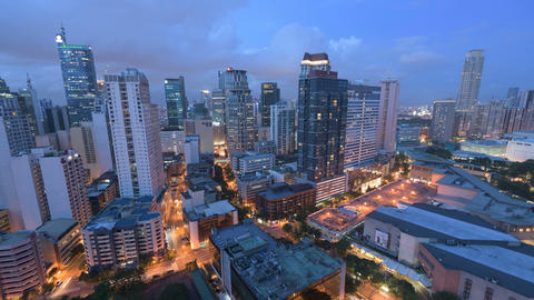 Metro Manila Day To Night Timelapse stock footage