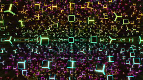Rotating Cubes 2 stock footage