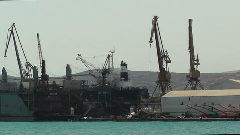Shipyard Of Neorion In Greece Syros stock footage