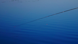 Rods and Blue Lake Water Footage