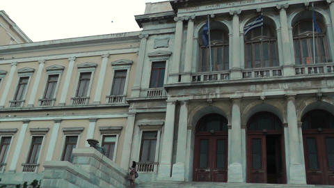 syros city hall (town hall) ernst ziller at Ermoupoli Live Action