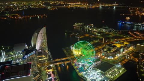 Yokohama minatomirai light up time laspe Footage