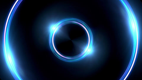 Lens ring flares double circle Animation