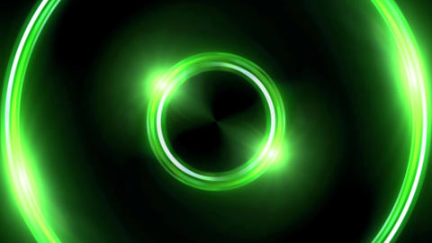green Lens ring flares double circle Animation