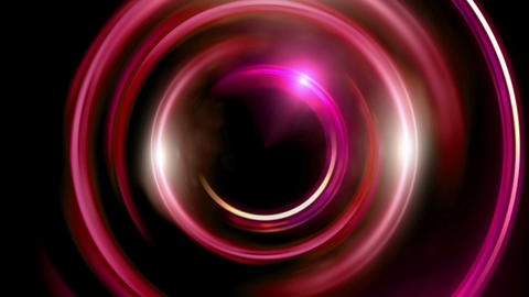 half ring double flares red Animation