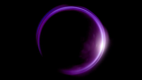purple Lens ring flares crossing of circle shape Animation