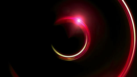 red half ring double flares Animation