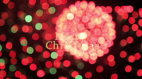 merry christmas firework Stock Video Footage
