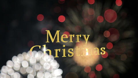 merry christmas firework Animation