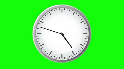 grey clock time lapse loop Animation