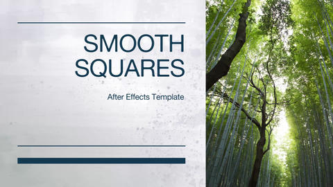 Smooth Squares After Effects Template