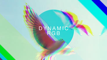 Dynamic RGB Slideshow After Effects Project
