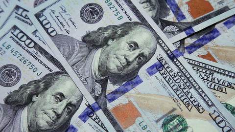 Man Counting Dollars stock footage