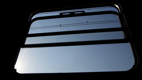 Window in a train compartment Footage