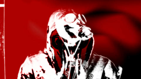 Gas Mask For A Vj (double Red) stock footage