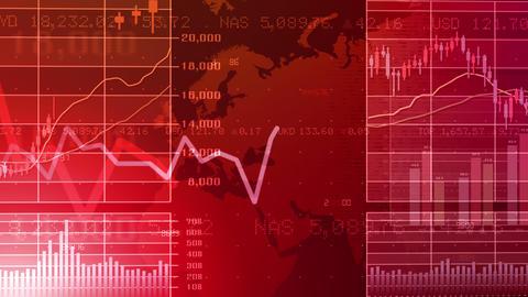 Business Graph K Emr 4 K stock footage