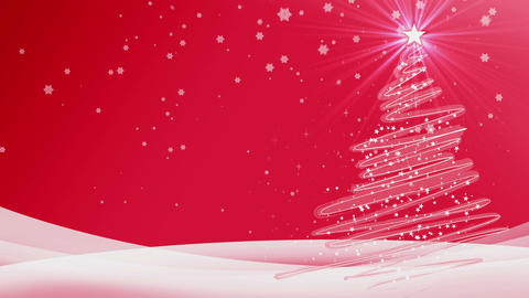 new year merry christmas red background Animation