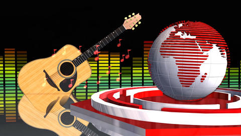 Global News Music Update Broadcast Television 3D Animation Animation