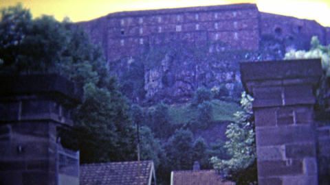 1969: Lion carved into the side of the mountain Footage