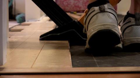 Hardwood floor nailing Footage