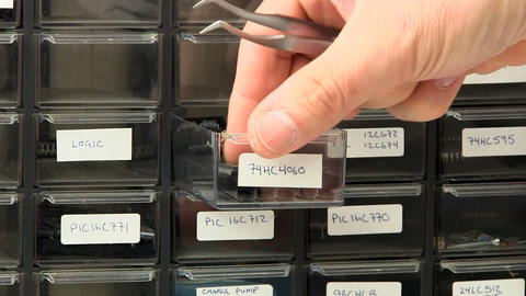 Circuit board component bin Footage