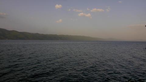 Calm and Peaceful Ocean at Dusk Footage