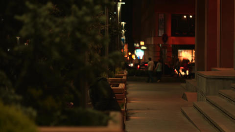 City Nightlife Stock Video Footage