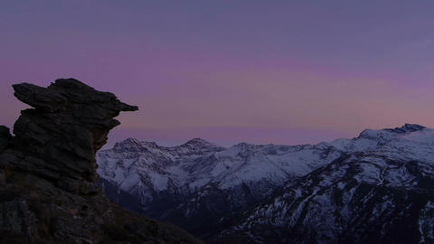 snowy mountains Footage