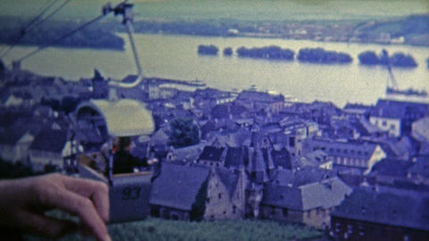 1969: Old town from chairlift provides a great view of the area Footage