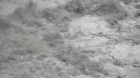 Fast Flowing River During Typhoon Souledor In Taiwan stock footage