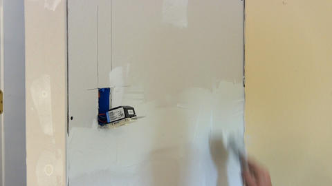 Taping seams Footage