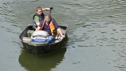 Taken Grandpa out on a boat ride Footage