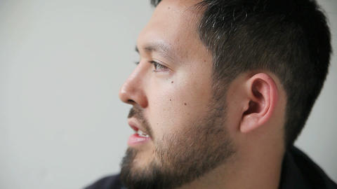 profile of young man talking Footage