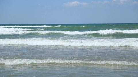 Waves Of The Black Sea stock footage