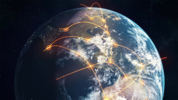 Networked Earth - Orange Animation