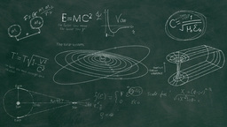 Science Equations Chalkboard - Green stock footage
