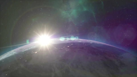 Beautiful Earth Sunrise Animation