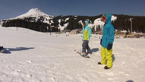 gopro slomo hugging snowboarder Live Action