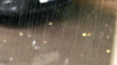 Rain And Road Wheel Cars stock footage