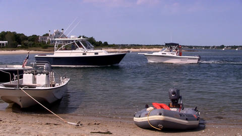 Beach and boating 2 Footage