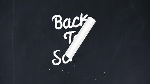Back to school writing on chalkboard Animation