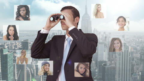 Businessman Searching For New Employees stock footage