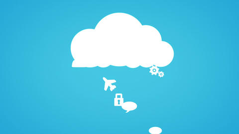 Cloud Computing Concept With Apps stock footage