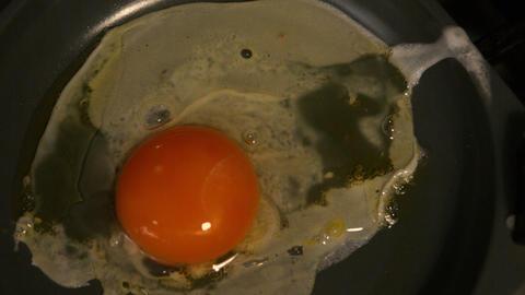 Egg cooking in frying pan ライブ動画