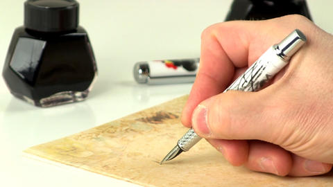 Hand writing with fountain pen 2 Live Action