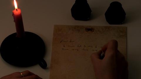 Candlelight handwriting Footage