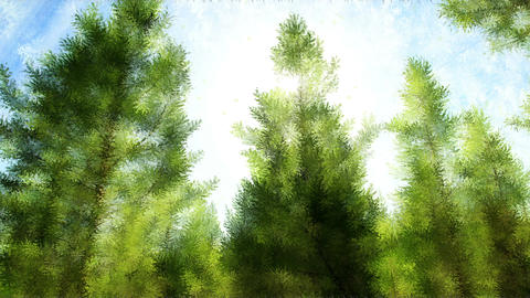 Abstract pine forest Animation
