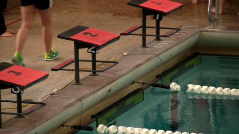 Swimmers starting blocks Footage