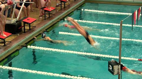 Girls swim team 13 Footage